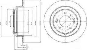 Delphi BG4262 - Bremžu diski interparts.lv