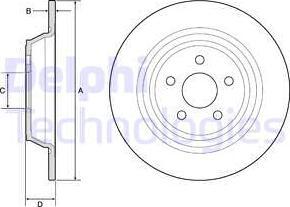 Delphi BG4782C - Bremžu diski interparts.lv