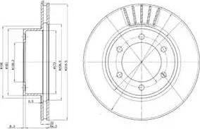 Delphi BG3535 - Bremžu diski interparts.lv