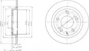Delphi BG3084 - Bremžu diski interparts.lv