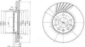 Delphi BG3142 - Bremžu diski interparts.lv