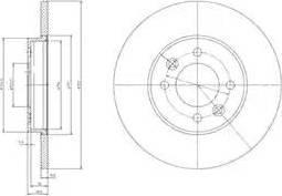 Delphi BG3147 - Bremžu diski interparts.lv
