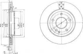 Delphi BG3709 - Bremžu diski interparts.lv