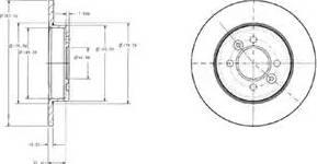Delphi BG2694 - Bremžu diski interparts.lv