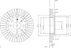 Delphi BG2636 - Bremžu diski interparts.lv
