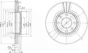Delphi BG2625 - Bremžu diski interparts.lv