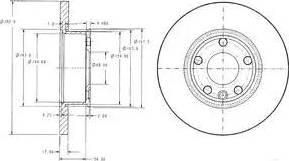 Delphi BG2898 - Bremžu diski interparts.lv