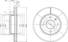 Delphi BG2339 - Bremžu diski interparts.lv