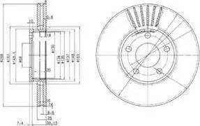 TRW DF2652 - Bremžu diski interparts.lv