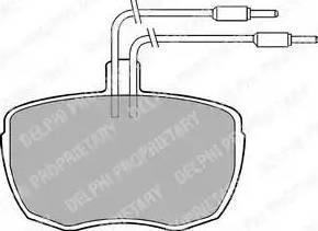 Delphi LP213 - Bremžu uzliku kompl., Disku bremzes interparts.lv