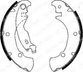 Delphi LS1840 - Bremžu komplekts, trumuļa bremzes interparts.lv