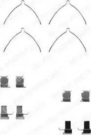 Delphi LX0258 - Piederumu komplekts, Disku bremžu uzlikas interparts.lv