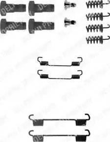 Delphi LY1198 - Piederumu komplekts, Bremžu loki interparts.lv