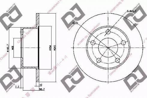 DJ Parts BD1176 - Bremžu diski interparts.lv