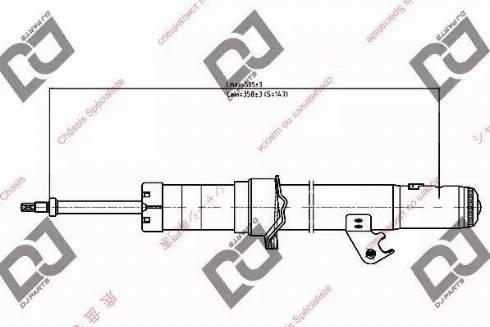 DJ Parts DS1195GT - Amortizators interparts.lv