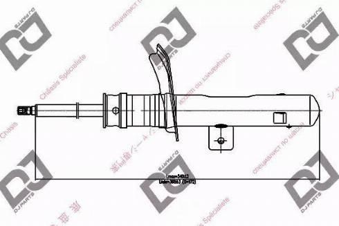DJ Parts DS1380GS - Amortizators interparts.lv