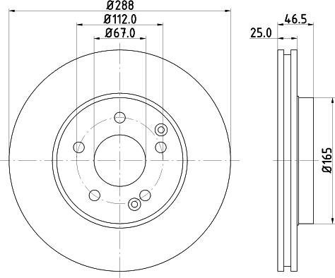 DON PCD10232 - Bremžu diski interparts.lv