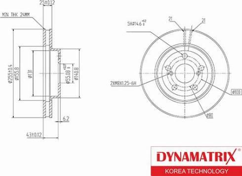 Dynamatrix DBD620 - Bremžu diski interparts.lv