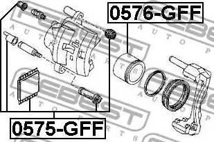 Febest 0575-GFF - Remkomplekts, Bremžu suports interparts.lv