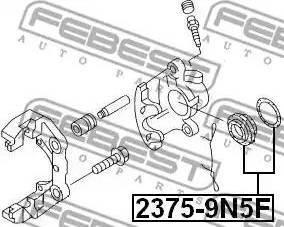 Febest 2375-9N5F - Remkomplekts, Bremžu suports interparts.lv