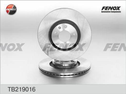 Fenox TB219016 - Bremžu diski interparts.lv