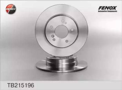 Fenox TB215196 - Bremžu diski interparts.lv