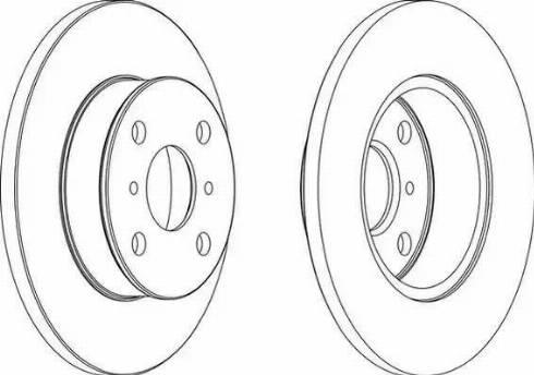 Ferodo DDF412 - Bremžu diski interparts.lv