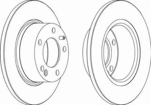 Ferodo DDF554 - Bremžu diski interparts.lv