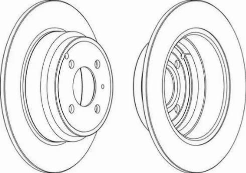 Ferodo DDF551 - Bremžu diski interparts.lv