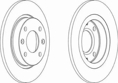 Ferodo DDF059 - Bremžu diski interparts.lv