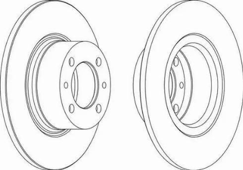 Ferodo DDF035 - Bremžu diski interparts.lv