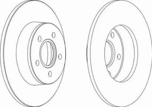 Ferodo DDF1497 - Bremžu diski interparts.lv