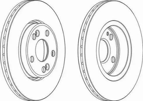 Ferodo DDF1123 - Bremžu diski interparts.lv