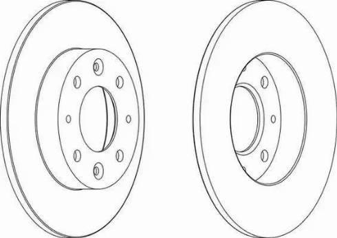 Ferodo DDF1395 - Bremžu diski interparts.lv