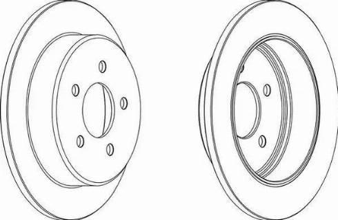 Ferodo DDF1378 - Bremžu diski interparts.lv