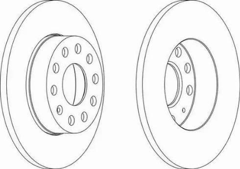 Ferodo DDF1276 - Bremžu diski interparts.lv