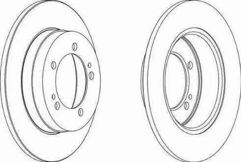 Ferodo DDF825 - Bremžu diski interparts.lv