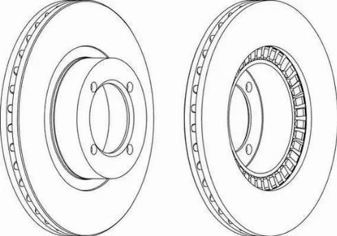Ferodo DDF305 - Bremžu diski interparts.lv