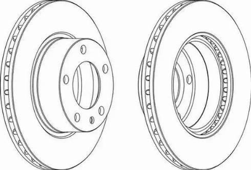 Ferodo DDF325 - Bremžu diski interparts.lv