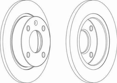 Ferodo DDF208 - Bremžu diski interparts.lv