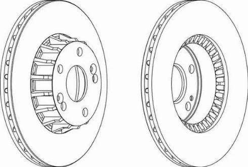 Ferodo DDF237 - Bremžu diski interparts.lv