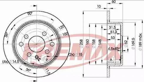 FREMAX BD-9581 - Bremžu diski interparts.lv