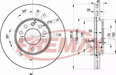 FREMAX BD-9043 - Bremžu diski interparts.lv