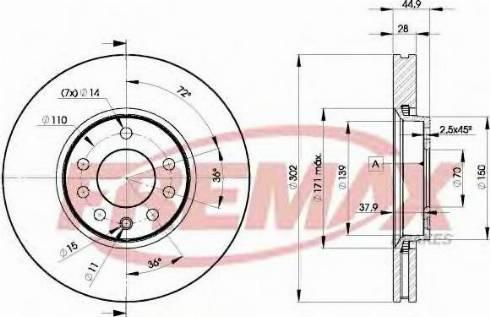FREMAX BD-9004 - Bremžu diski interparts.lv
