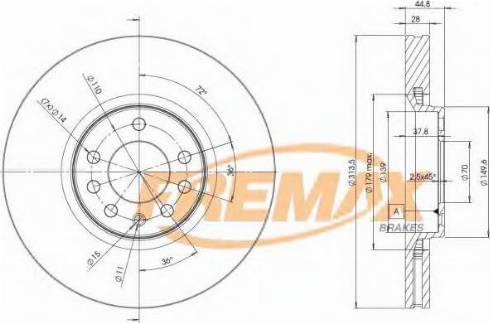FREMAX BD-9005 - Bremžu diski interparts.lv