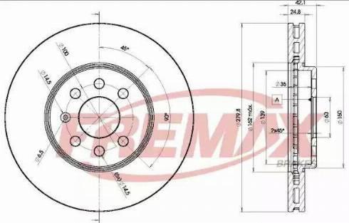 FREMAX BD-9001 - Bremžu diski interparts.lv