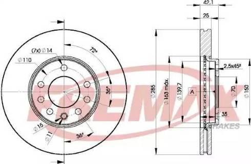 FREMAX BD-9003 - Bremžu diski interparts.lv