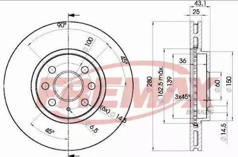 FREMAX BD-9007 - Bremžu diski interparts.lv