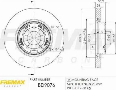 FREMAX BD-9076 - Bremžu diski interparts.lv