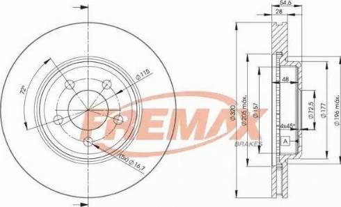 FREMAX BD-9196 - Bremžu diski interparts.lv